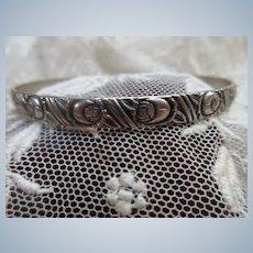 Vintage Beau Sterling Bangle Bracelet