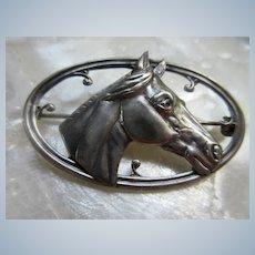 Vintage Sterling Horse Pin
