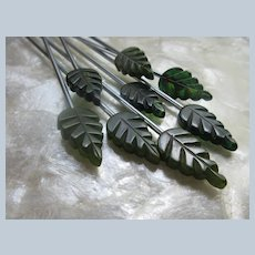 Vintage Bakelite Stir Sticks Fall Leaves