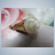 Vintage Floating Opals Charm Pendant