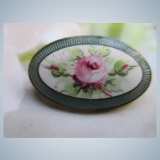 Vintage Guilloche Enameled Pin