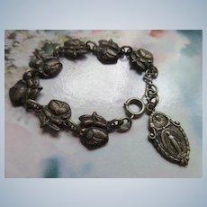 Older Vintage Roses For Mary Saints Bracelet