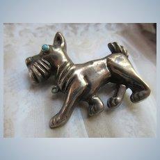 Vintage Silver Mexico Dog Pin