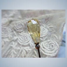 Antique Natural Citrine Stick Pin
