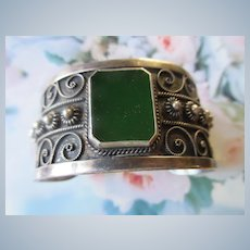 Vintage 1000 Silver Cuff Bracelet