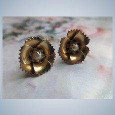 Vintage Floral Pierced Earrings