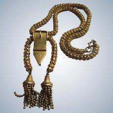 Antique Tassel Buckel Necklace