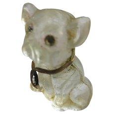 Older Vintage Czech Glass Dog Charm