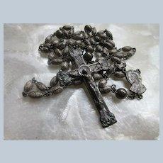 Vintage 1949 Sterling Rosary