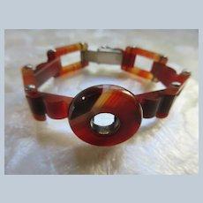 Older Vintage Banded Agate Bracelet