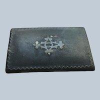 Victorian Paper Mache Inlaid Snuff Box