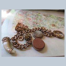 Victorian Charm Bracelet in Gold Fill