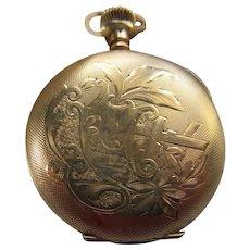 Antique Gold Fill Hampden Pocket Watch TLC    Molly Stark