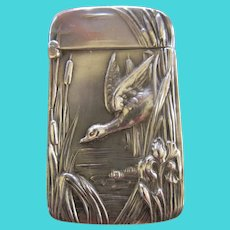 Antique Art Nouveau Unger Brothers Sterling Match Safe