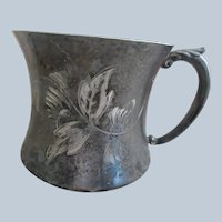 Victorian Poole Silver Co. Baby Cup   Silver Plate