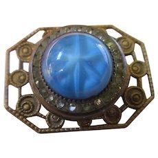 Older Vintage Art Glass Star Sapphire Pin circa 1930