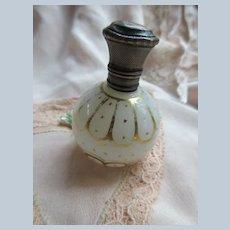 Antique Perfume Scent Bottle Silver Cap European Hallmarks