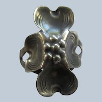 Vintage Sterling Hand Made Flower Ring