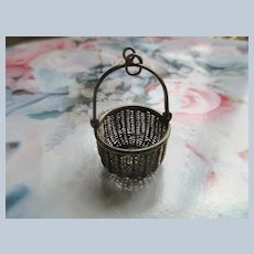 Vintage Sterling Nantucket Basket Charm Pendant