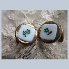 Victorian Inlay Cufflinks Cuff Buttons