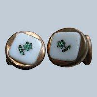 Victorian Inlay Cufflinks Cuff Buttons