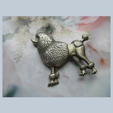 Vintage Danecraft Sterling Poodle Pin