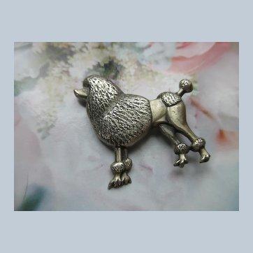 Vintage Danecraft Sterling Poodle Pin