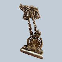 Antique Victorian Wax Seal Fob Necklace