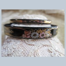 Vintage Michaela Frey Austrian Enameled Bangle Bracelet Set