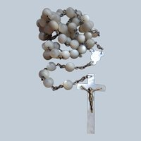 Early 20th Century Mother Of Pearl Rosary