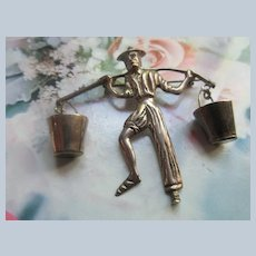 Vintage Mexico Silver Figural Pin