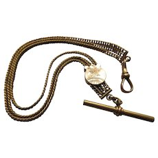 Antique Pocket Watch Chain Slide Chain in Gold Fill