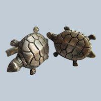 Vintage Sterling Turtle Cufflinks