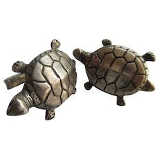 Vintage Sterling Turtle Cufflinks