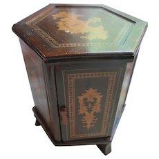 Inlay Wood Standing Box Souvenir Saratoga Springs NY