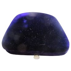 Victorian Purple Velvet Jewelry Box Presentation Display Box