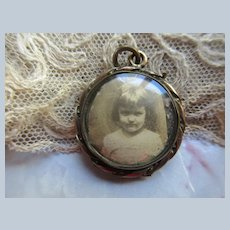 Victorian Antique Picture Locket in Gold Fill