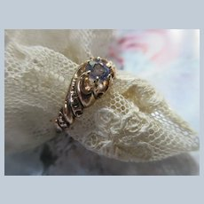 Victorian 10K Tanzanite Ring