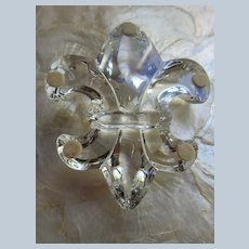 Estate French Baccarat Crystal Fleur Di Les Paperweight