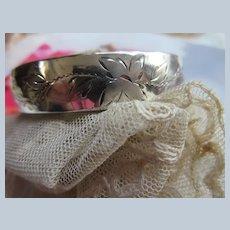 Older Vintage Sterling Bangle Bracelet