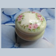 TV Limoges France Powder Jar Dresser Box With Lid