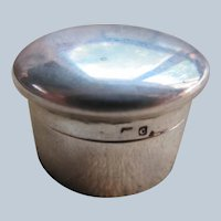 Vintage Tiny Sterling Hallmarked Box - Pill Box Vanity