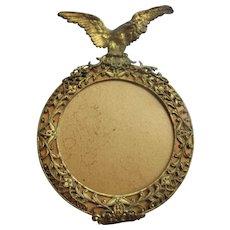 Older Vintage Miniature Brass Frame with Eagle