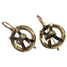 Antique 14K Pierced Earrings