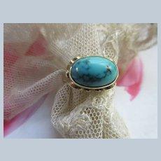Older Vintage 333 8K Turquoise Ring