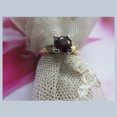 Older Vintage circa 1930 14K Garnet Ring