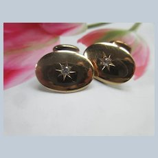 Antique 10K Diamond Cufflinks