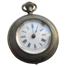 Antique Pocket Watch With Scenic Embellishments TLC