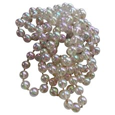 Vintage Iridescent Rainbow Lucite Bead Bubble Necklace