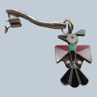 Vintage Zuni Thunderbird Key Chain Pendant